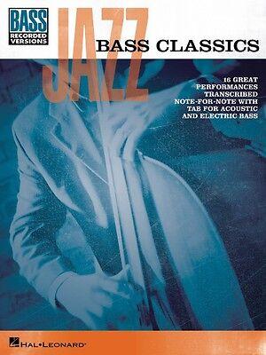 Jazz Bass Classics Sheet Music Bass Book NEW 000102070