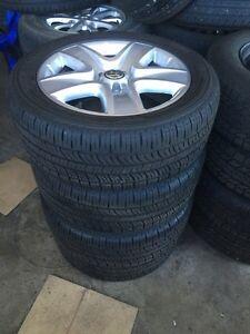 235/50/18 all season on alloys. Off a VW Tiguan
