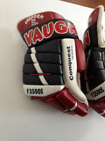 Men's all leather lightweight pro hockey gloves