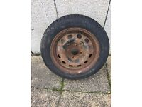 Ford fiesta steel wheel with brand new tyre