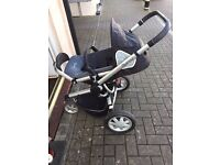 Quinny Buzz Extra 'ROCKING BLACK' 3 Wheel Push Chair suitable from newborn to Toddler