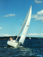 C&C 24' Racer/Cruiser Sailboat with Tandem Axel Trailer