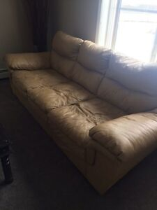 Leather couch $100 Strathcona County Edmonton Area image 1