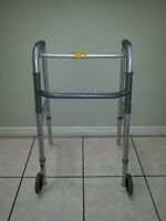 Aluminum Foldable Walker with 2 Wheels