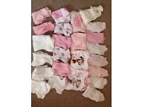 3-6 months baby girl baby grows and vests