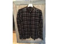 Men's All Saints chequered shirt. XL (fits large)