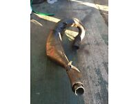 Yz/wr 125/250 exhaust standard down pipe, expansion pipe