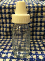 8 4 oz Evenflo Glass Bottles with Caps