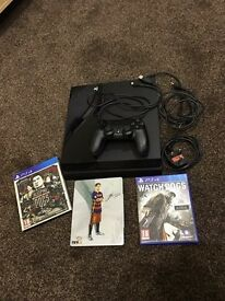 Sony PlayStation 4 console with 3 games. PS4 with limited edition games