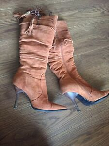 Real suedee tall boots, size 5