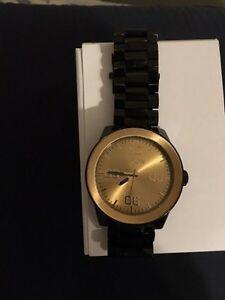 "Nixon ""The Corporal SS"" Gold and Black Watch PRICE DROP"