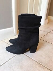 Black Suede Aldo Booties London Ontario image 1