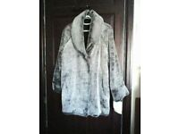 Grey petite size 14 Debenhams Anne Brooks coat, brand new.