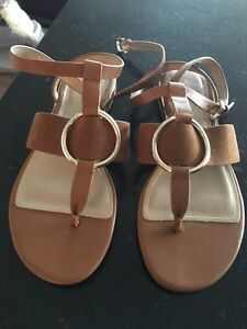 ALDO COGNAC BROWN SANDALS