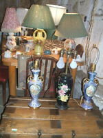 Vintage lamps/Small dresser/desk/vanity