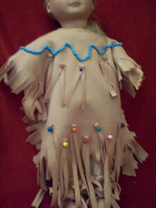 American Girl-sized Doll Clothes: Tan Native Dress Windsor Region Ontario image 1