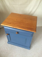 blue bedside table/side table