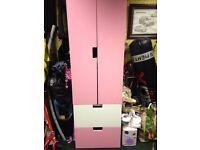 Pink and white wardrobe