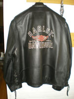 Harley Leather Jacket and Vest Combo