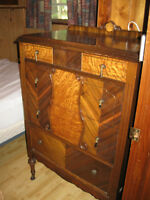 Antique chest of drawers and Headboard & Footboard