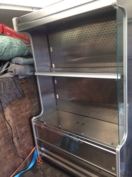 Stainless steel caravell H200cm W 100cm Display chiller good condition with guarantee bargain