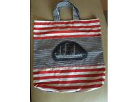 New fabric shopping bag nautical