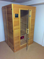 --- SAUNA --- solid wood with carbon fibre heaters
