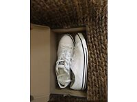 Women's White Leather Dainty Converse
