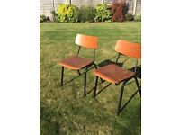 Vintage retro pair of Chairs