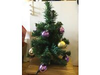 1.5 ft Miniature Christmas Tree included bubbles