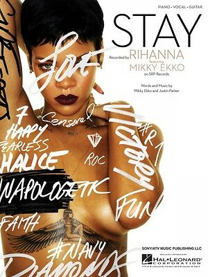 Stay Sheet Music Piano Vocal Rihanna NEW 000119490
