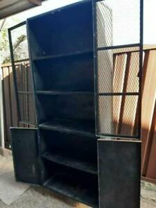 2 x Le Forge industrial steel cabinets,vintage,shop or home