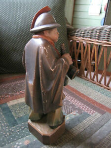 """Antique hand carved """" Night watchman"""" London Ontario image 2"""