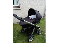 Icandy apple to pear pram, all accessories to convert from single pram to double plus extras.