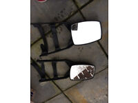 towing mirrors foor caravaning and camping