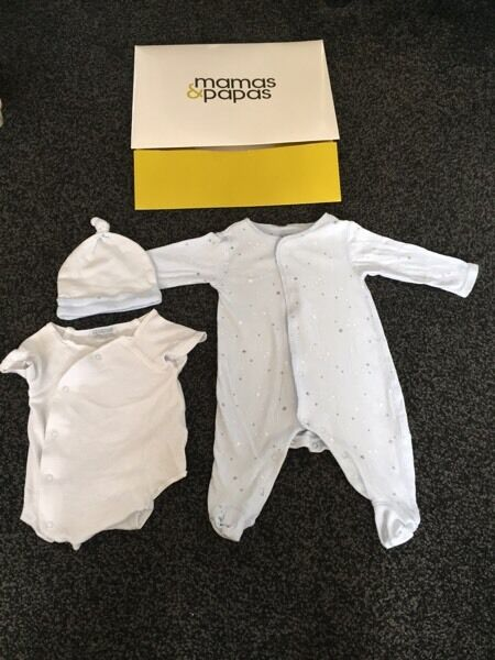 Mamas & Papas Baby boy 3 piece suit