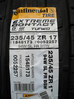 New Continental ExtremeContact DW 235/45ZR17 - Summer Tires