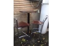 Bar tables and tall stools