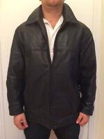 Jacket pour homme Large en cuir noir marque pelle