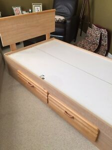 Child's bedroom set.  Solid birch drawer fronts and headboard.  Strathcona County Edmonton Area image 5