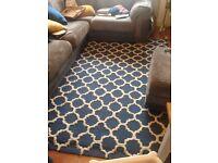 Superb large wool rug habitat style