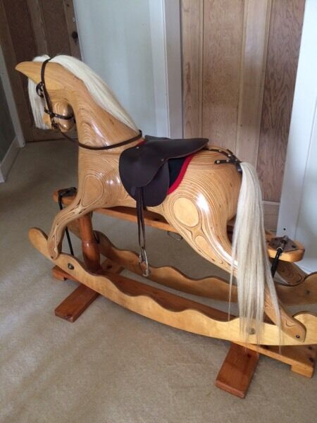 Traditional Handmade Ian Armstrong Wooden Rocking Horse