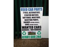 CASH FOR YOUR OLD CAR FOR PARTS