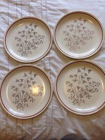 Four Biltons dinner plates