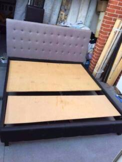 fabric king size bed frame only (with out mattress) , can deliver