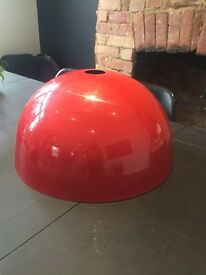 Large red lampshade
