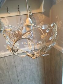 Dunelm mill ceiling light with bulb
