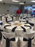 Full service chair covers, sashes & more starting at .75 CENTS!