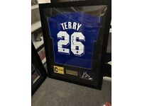 Signed chelsea football shirts