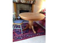 Oak finish kitchen dining table